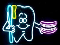 Neon tooth sign